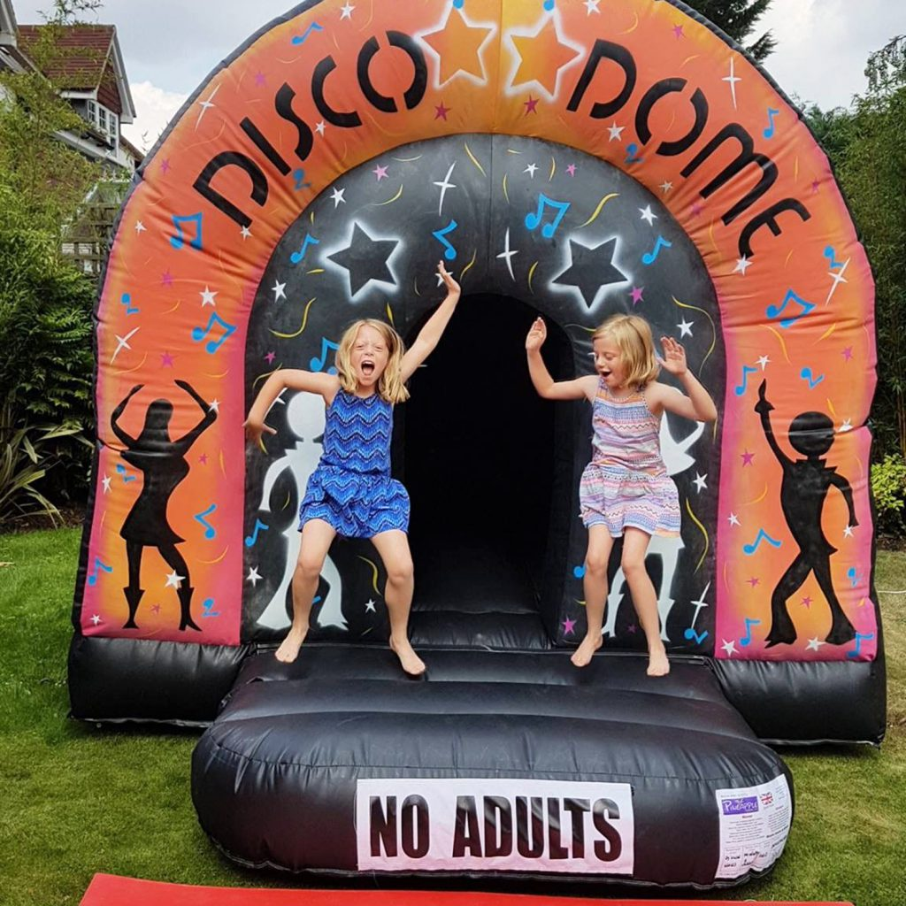 disco dome inflatable party girls